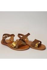 Pom d'Api sandaal plagette tek leopard/nuts
