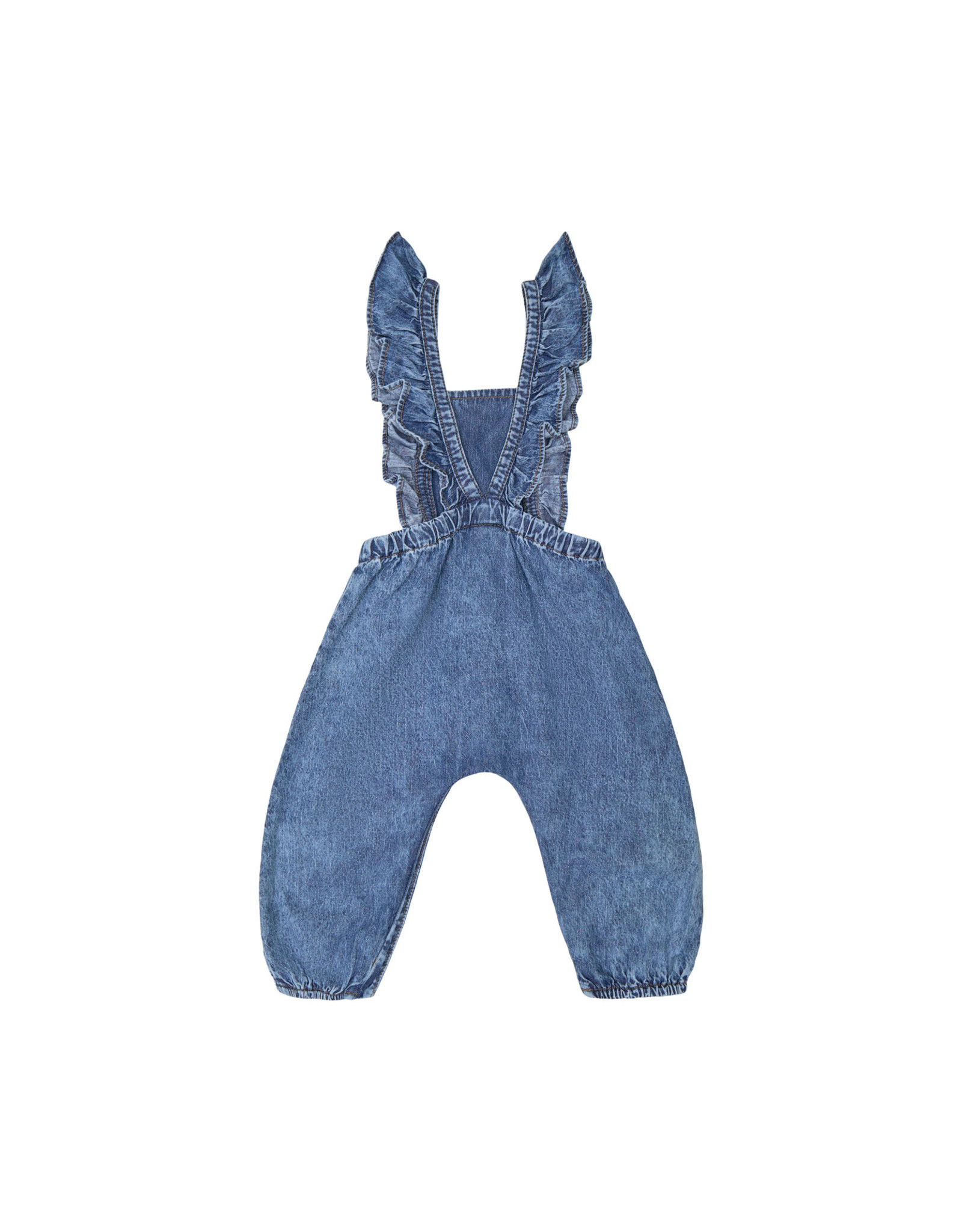 Petit by Sofie Schnoor salopette jeans ruffle