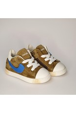 Rondinella sneaker hoog kaki/blauw