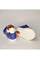Rondinella sneaker hoog blauw/bruin