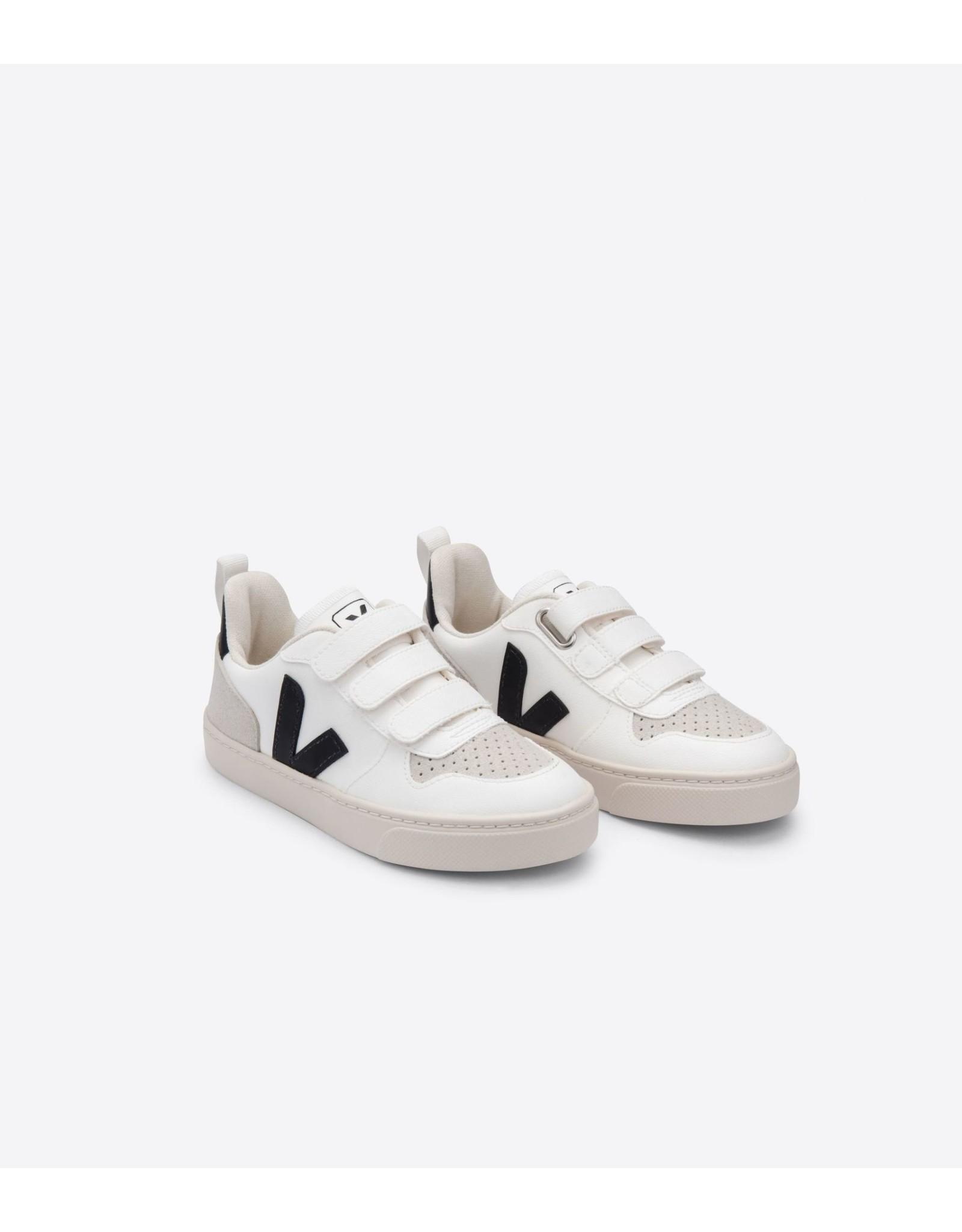 Veja V10 velcro clw white black