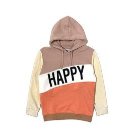 Cos I Said So happy human color block hoodie sepia rose