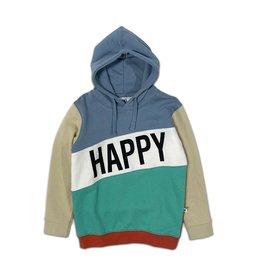 Cos I Said So happy human color block hoodie faded denim