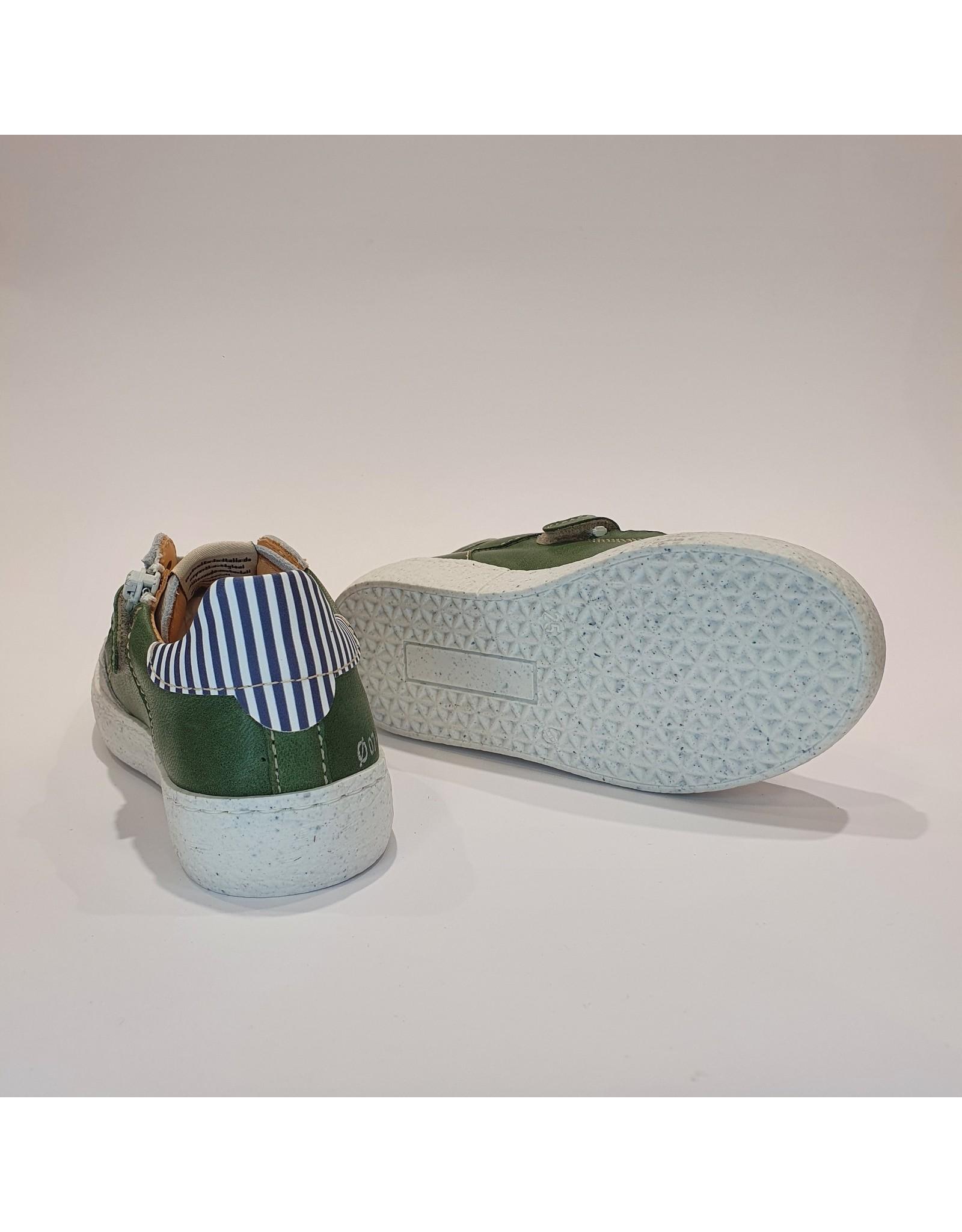 Ocra sneaker bliksem wit/kaki