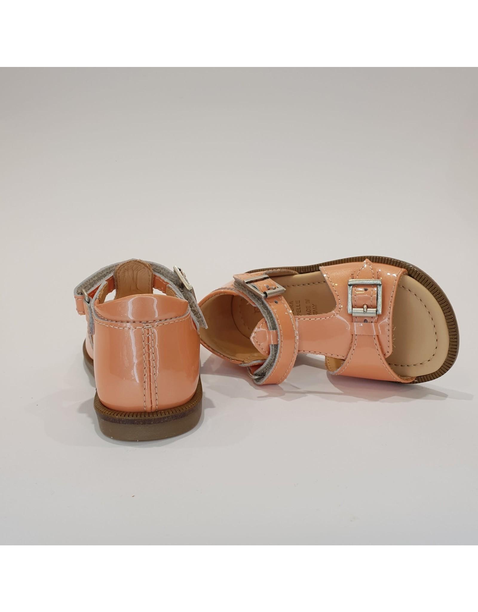 Ocra sandaal oranje lak