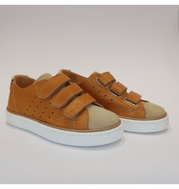 Ocra sneaker cognac velcro