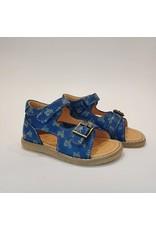 Ocra sandaal blauw moto