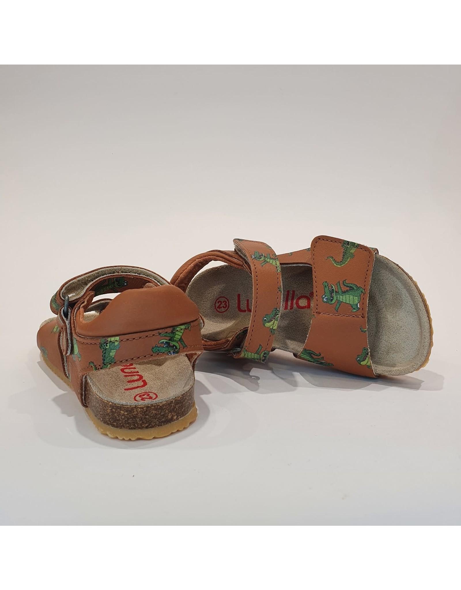 Lunella sandaal cognac croco