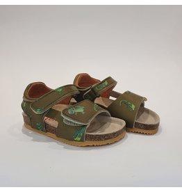 Lunella sandaal kaki croco