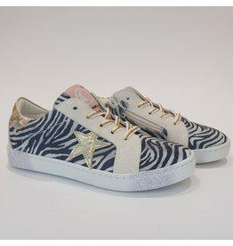 Rondinella sneaker zebra goud