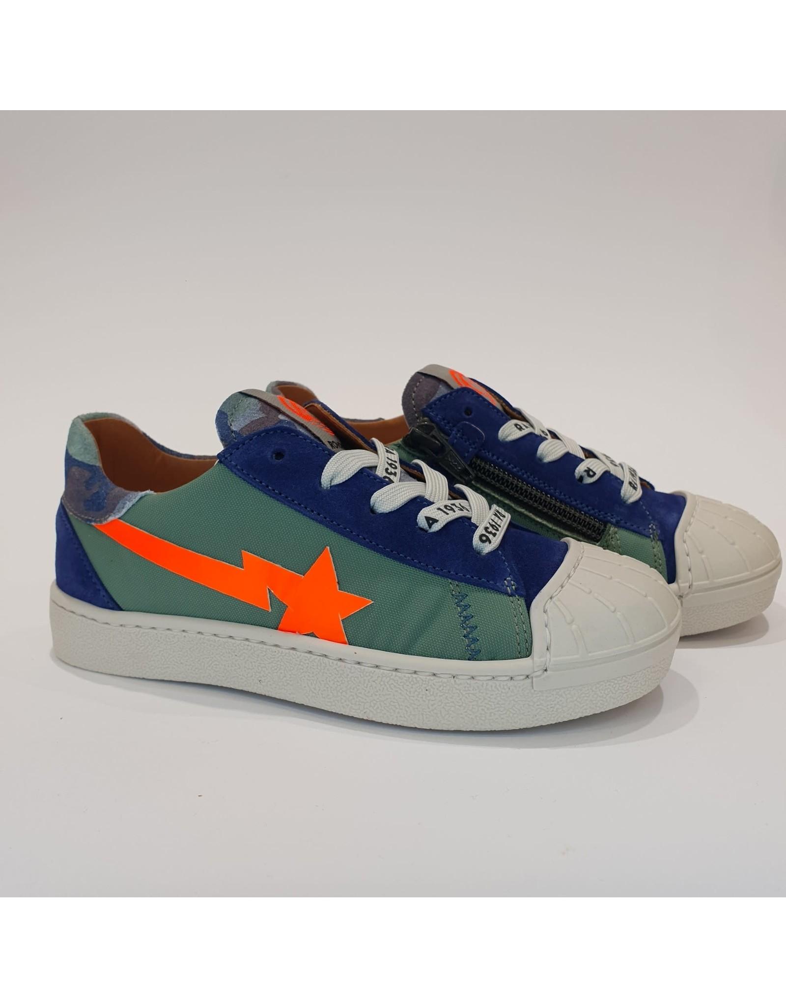 Rondinella sneaker groen/blauw oranje ster