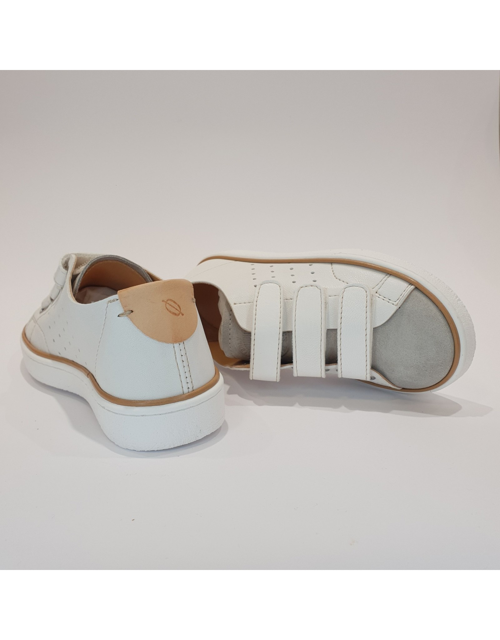 Ocra sneaker velcro wit grijs