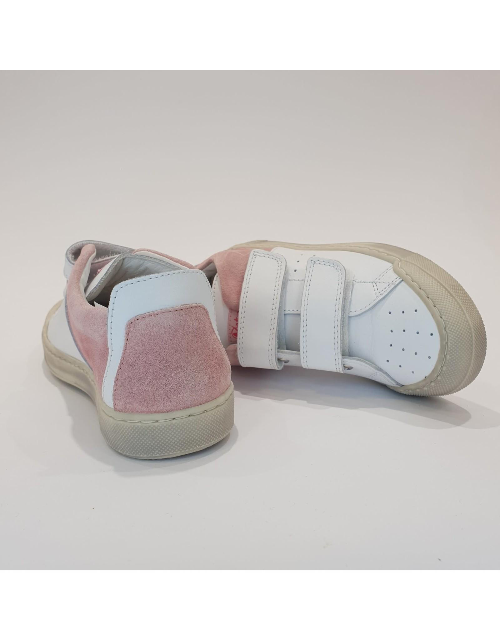 Naturino sneaker velcro white pink