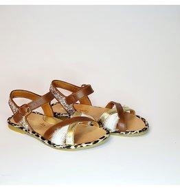 Rondinella sandaal camel leopard