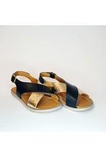 Rondinella sandaal zwart/goud
