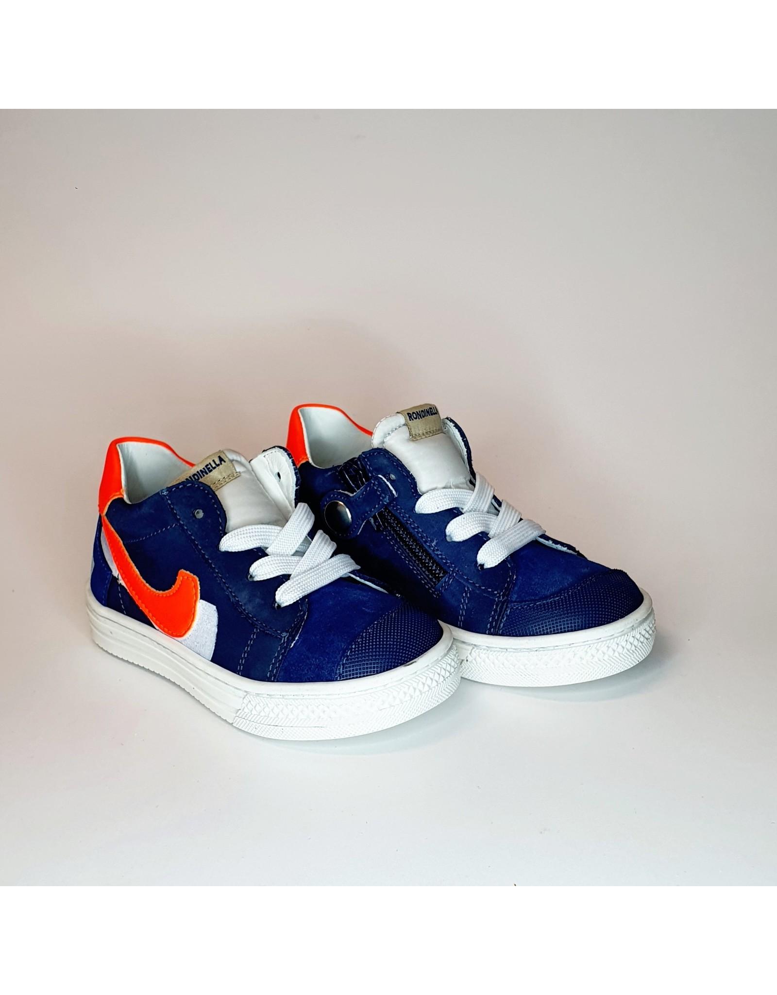 Rondinella sneaker hoog blauw neon