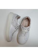 Andrea Morelli sneaker wit/ zilver diamonts