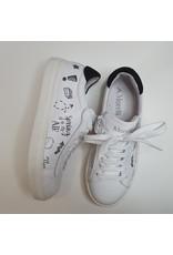 Andrea Morelli sneaker wit/ zwarte tekst