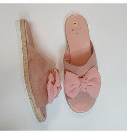 Baci slipper roze strik