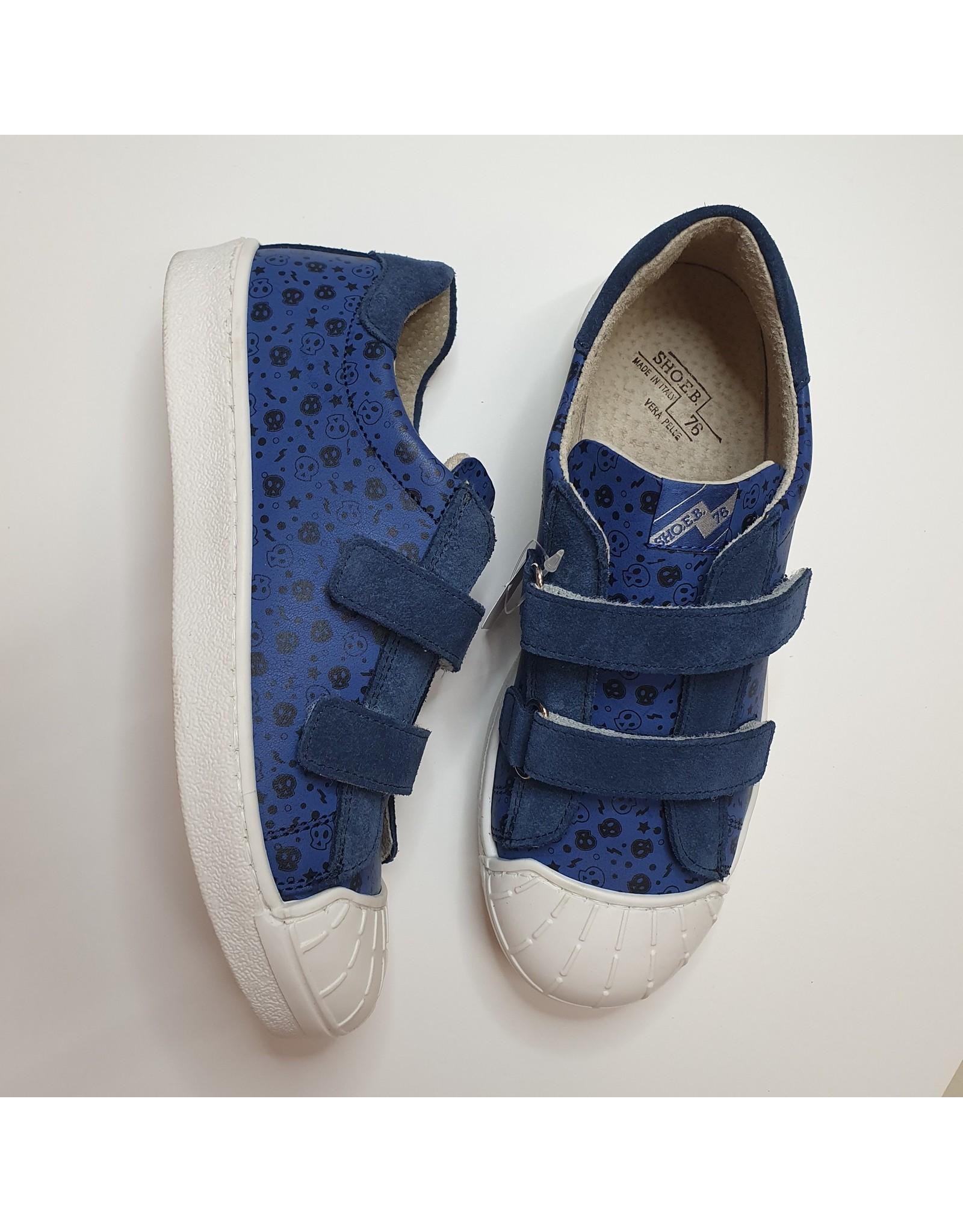 sho.e.b. sneaker velcro blue skull