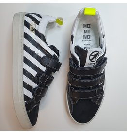 Momino sneaker white and black stripes