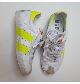 Momino sneaker white fluo stripes
