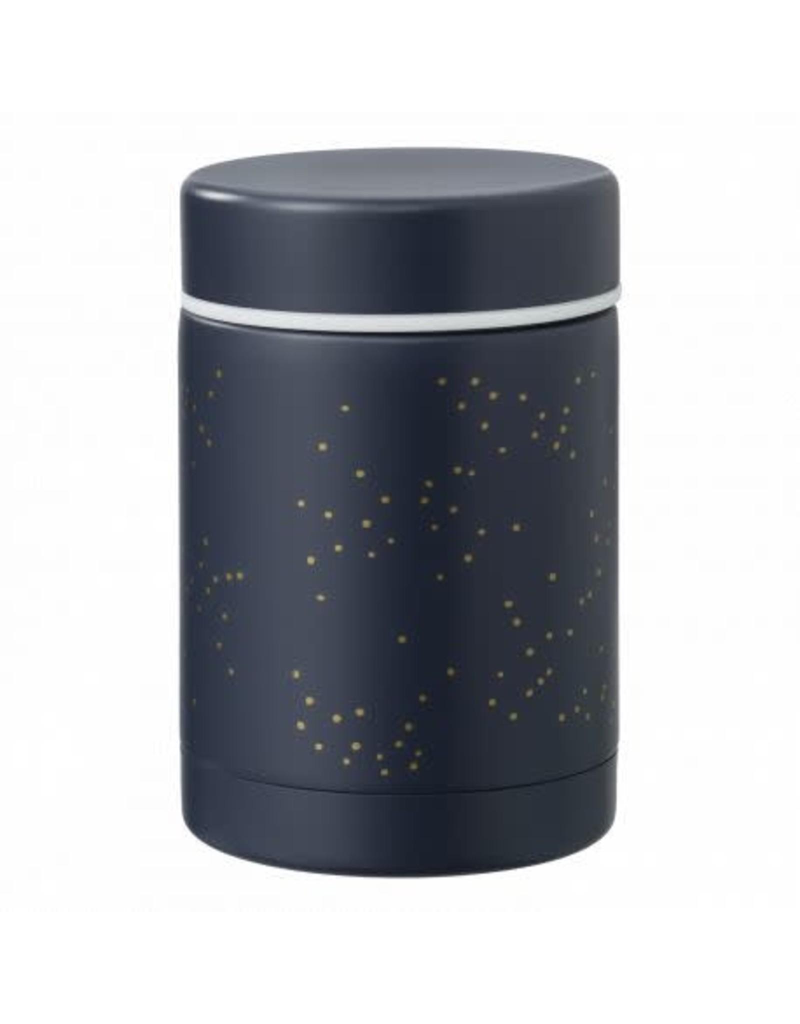 FRESK food jar indigo dots