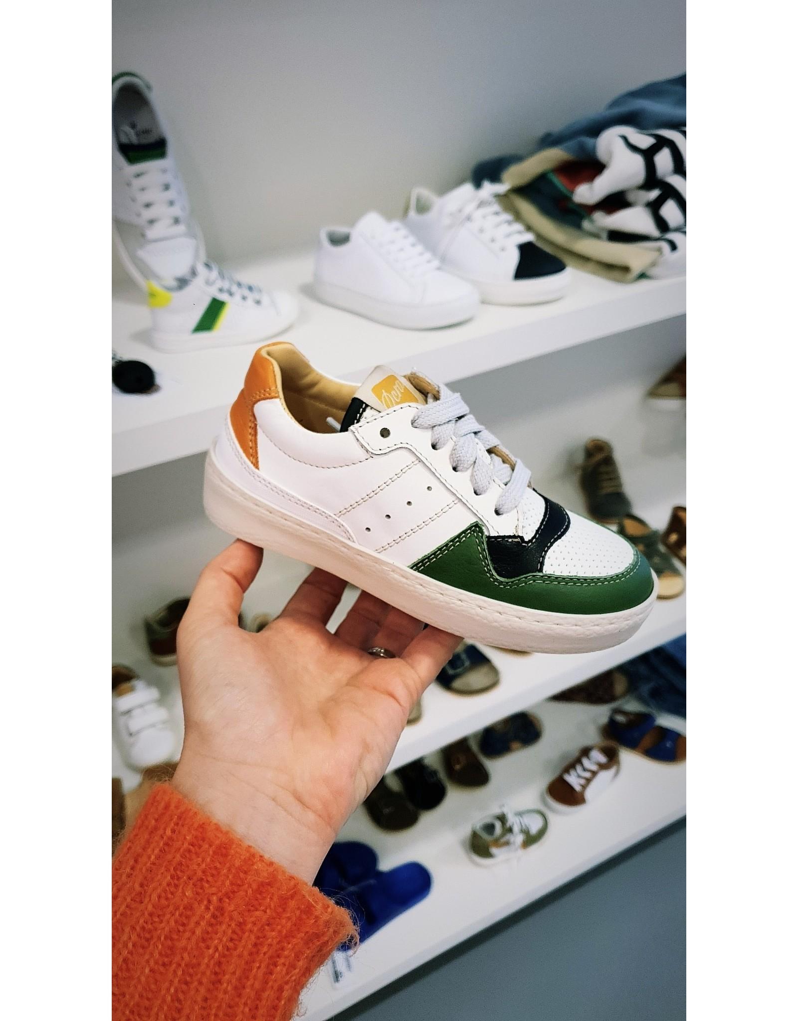 Ocra sneaker wit/oranje/groen
