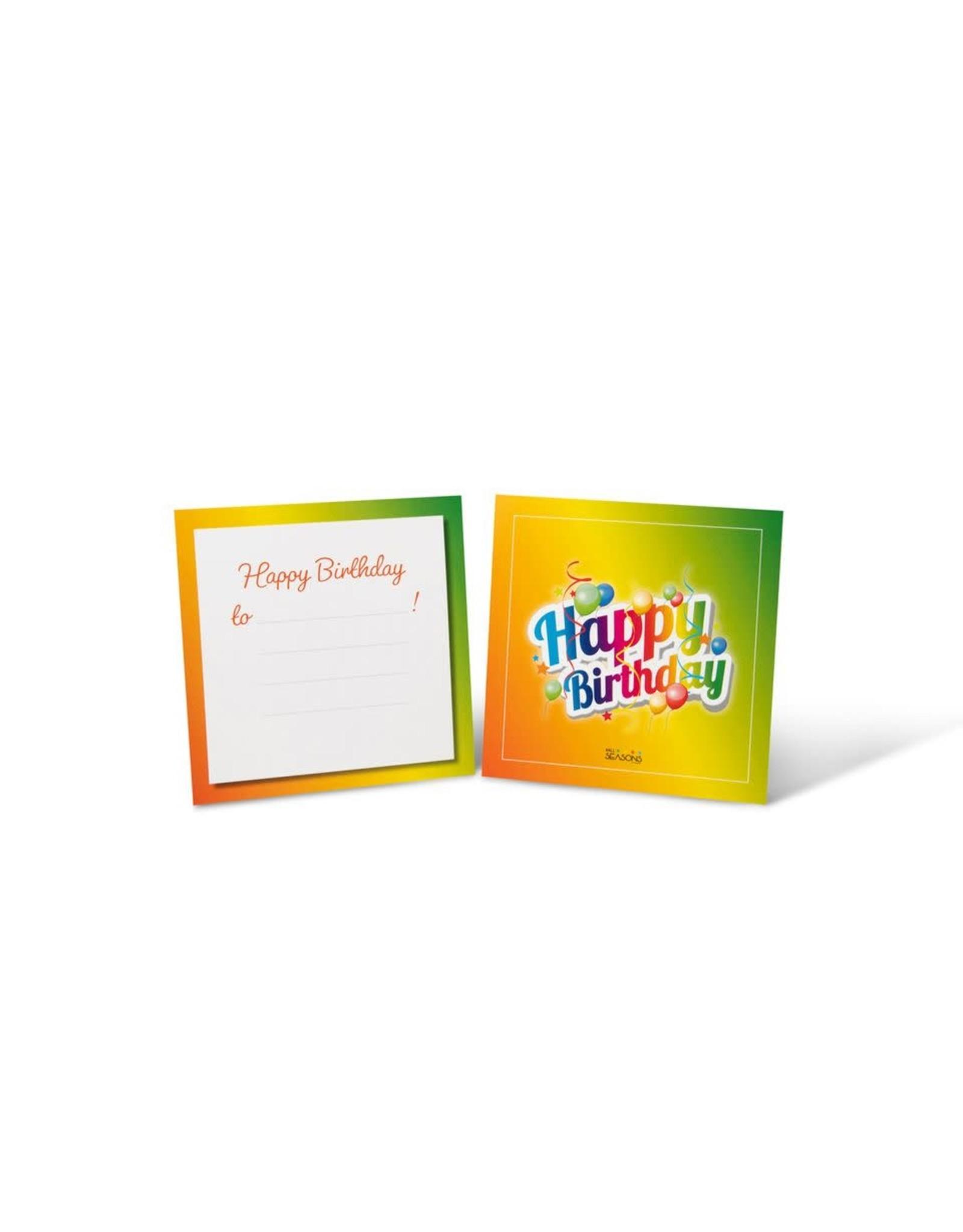 4all seasons geschenkverpakking Happy Birthday