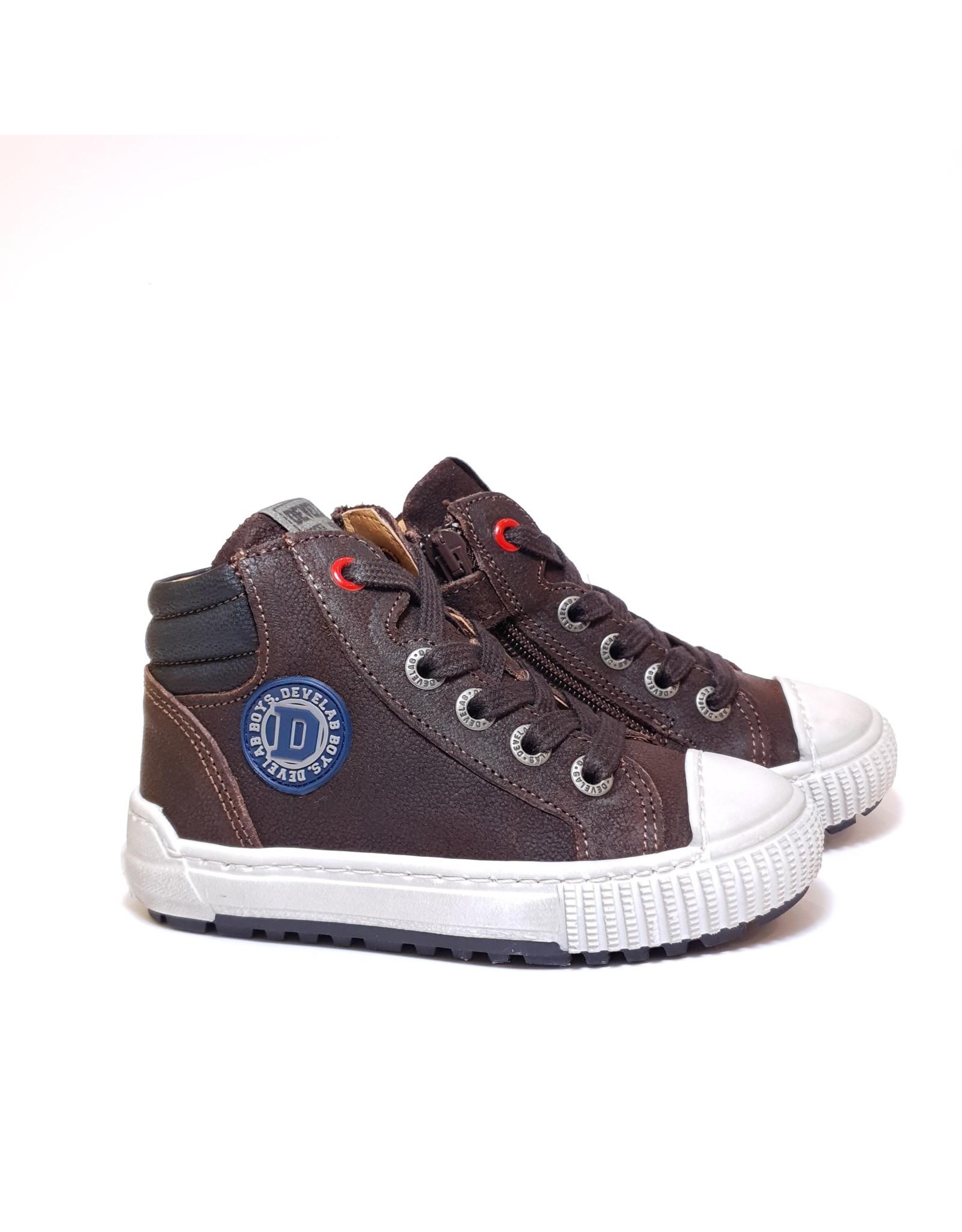 Develab sneaker donker bruin suede