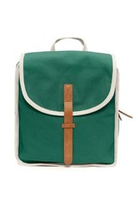 Petit Monkey recycled cotton backpack pine green