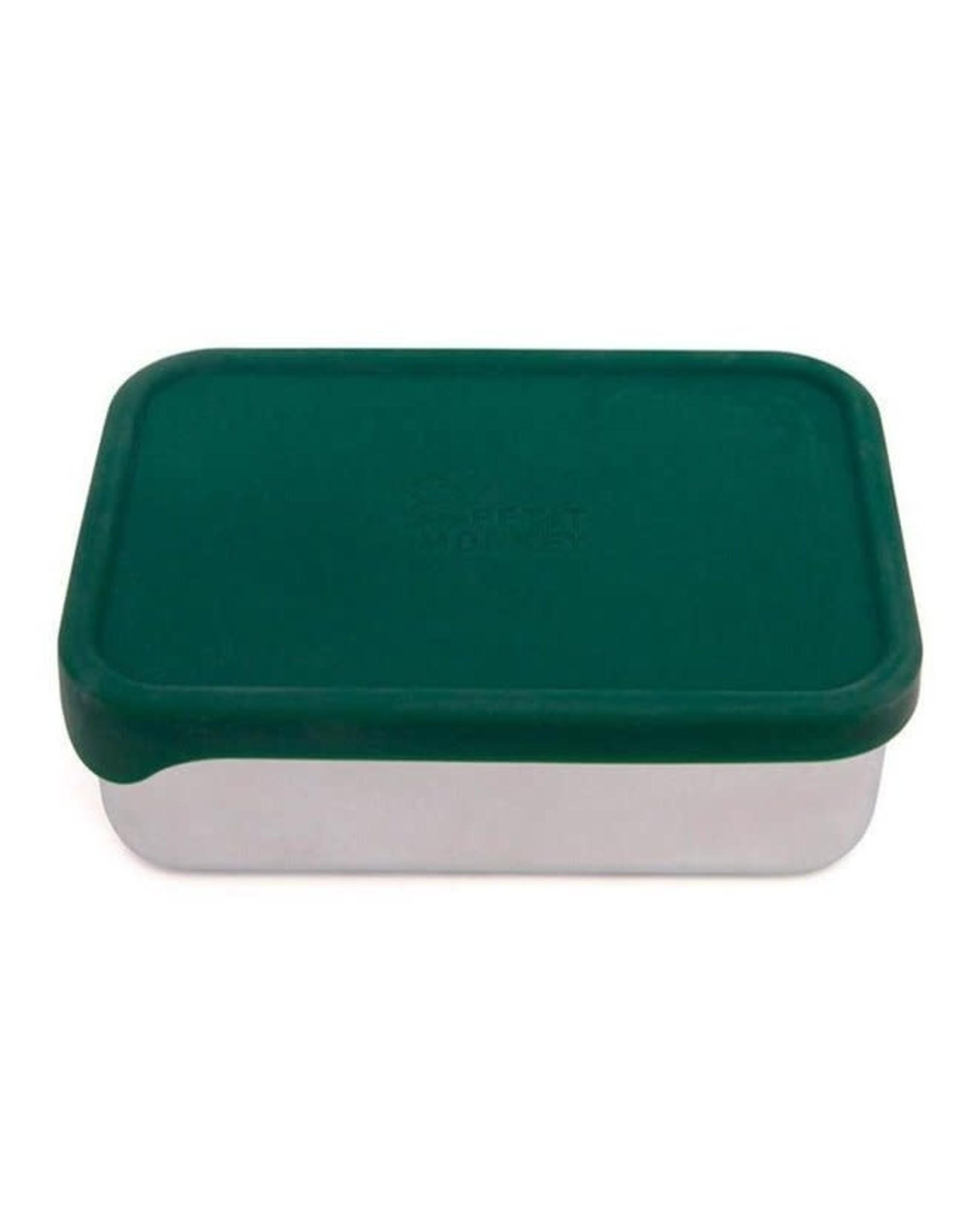 Petit Monkey stainless steel lunchbox pine green