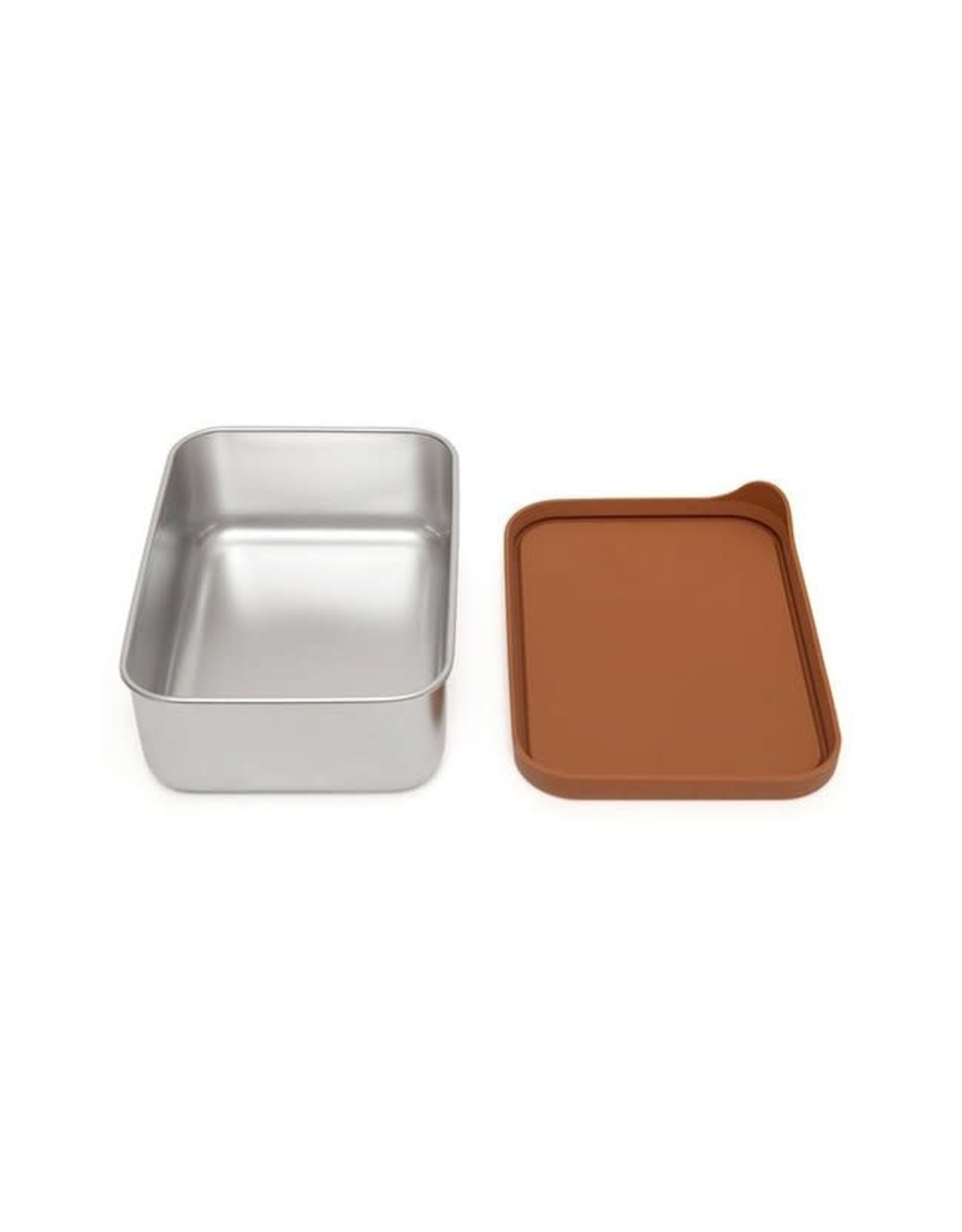 Petit Monkey stainless steel lunchbox baked clay