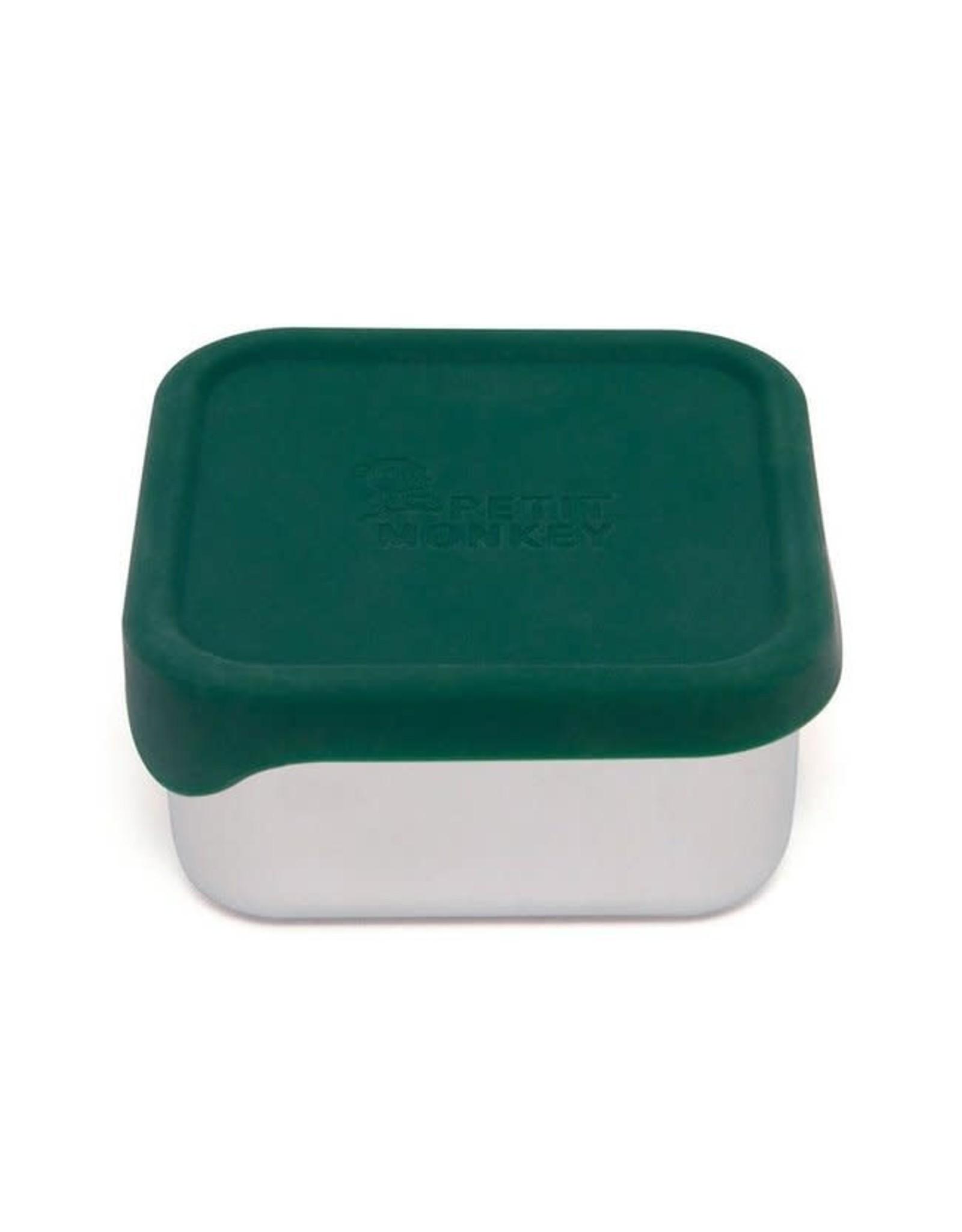 Petit Monkey stainless steel mini lunchbox pine green