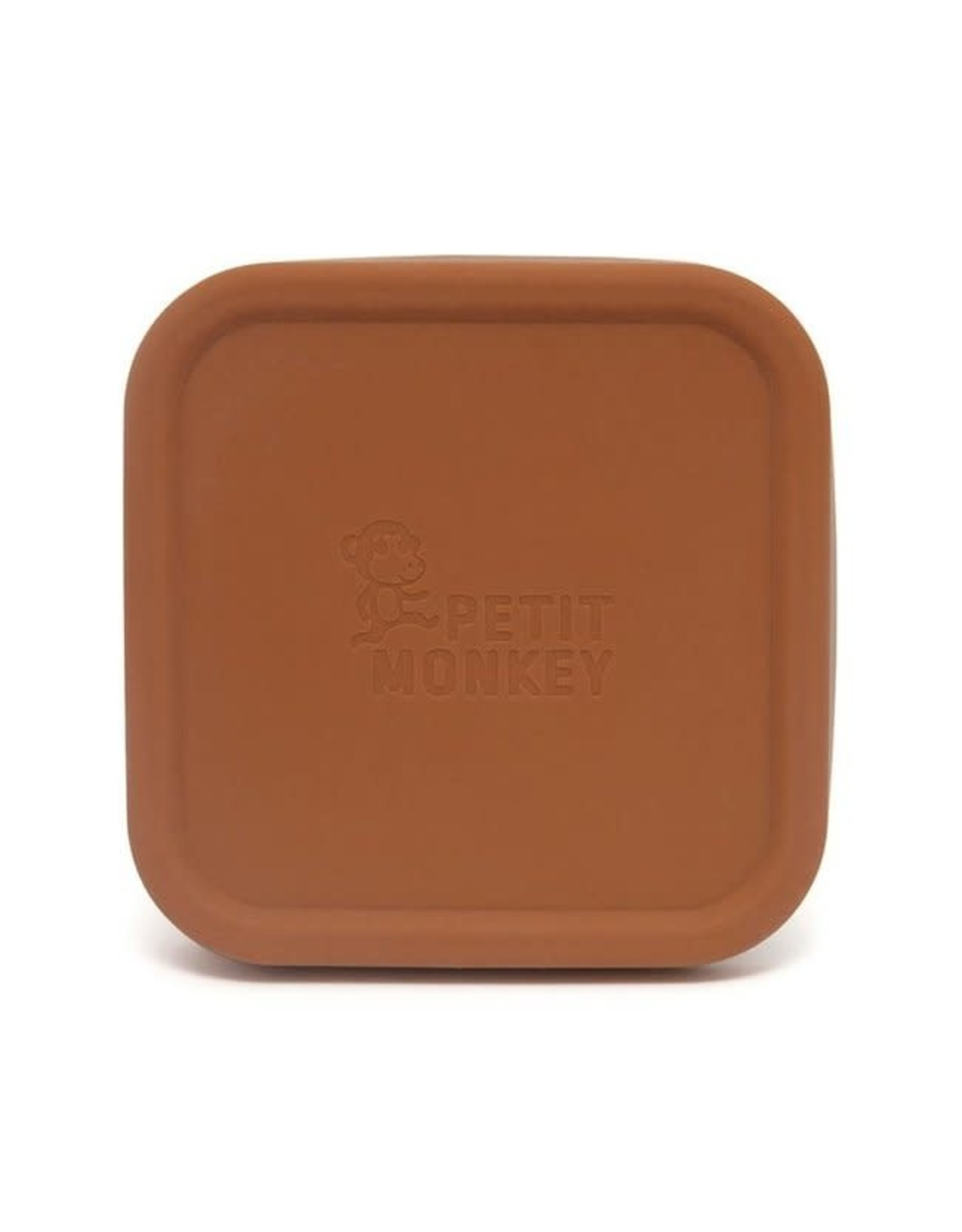 Petit Monkey stainless steel mini lunchbox baked clay
