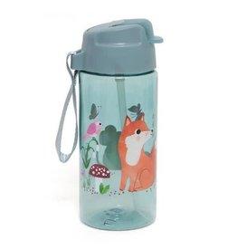 Petit Monkey drinking bottle woodlands stone blue