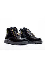 Walkey boots zwart lak gouden hartje