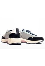Rondinella sneaker grijs/zwart/roze