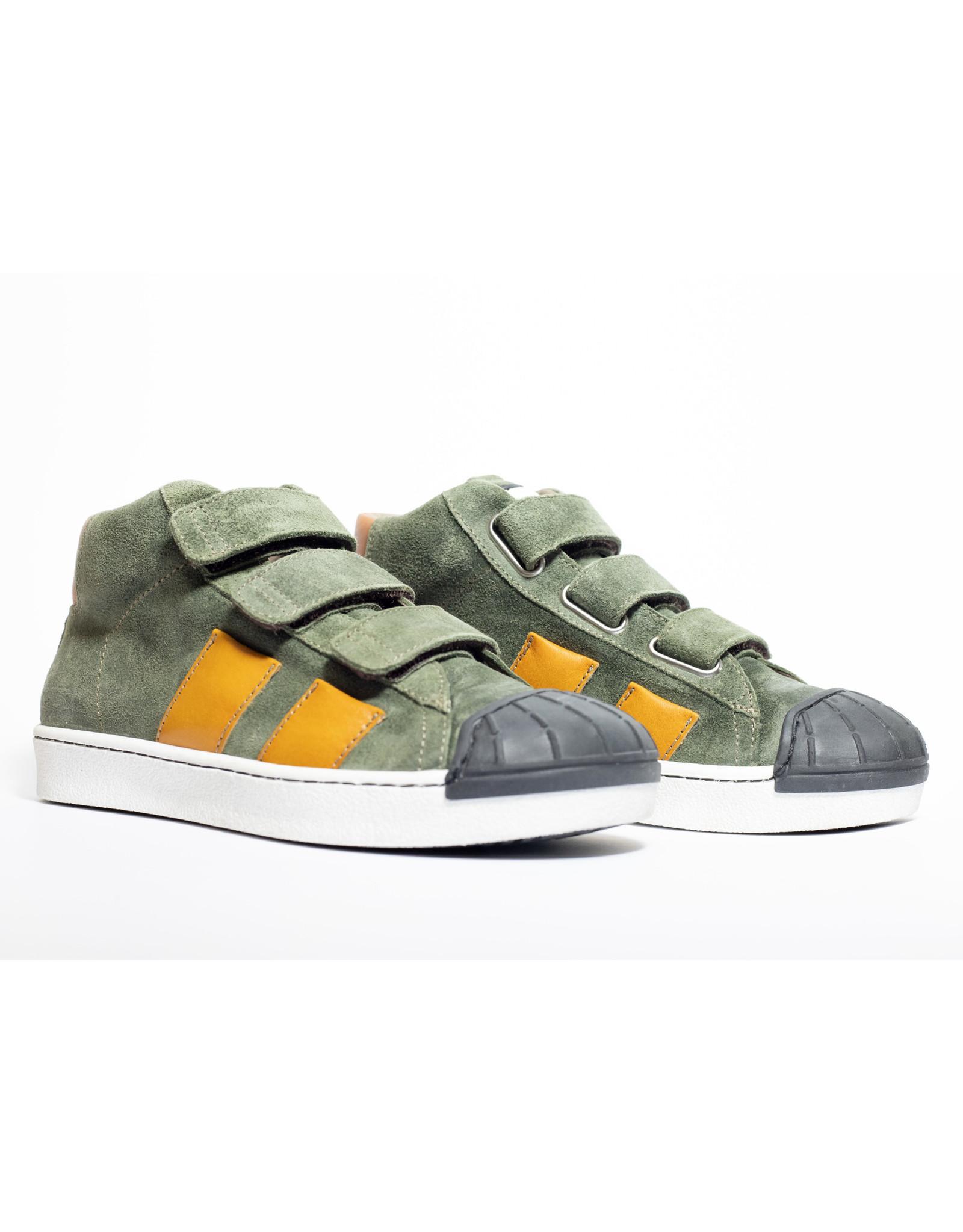 Momino sneaker kaki brushed velcro