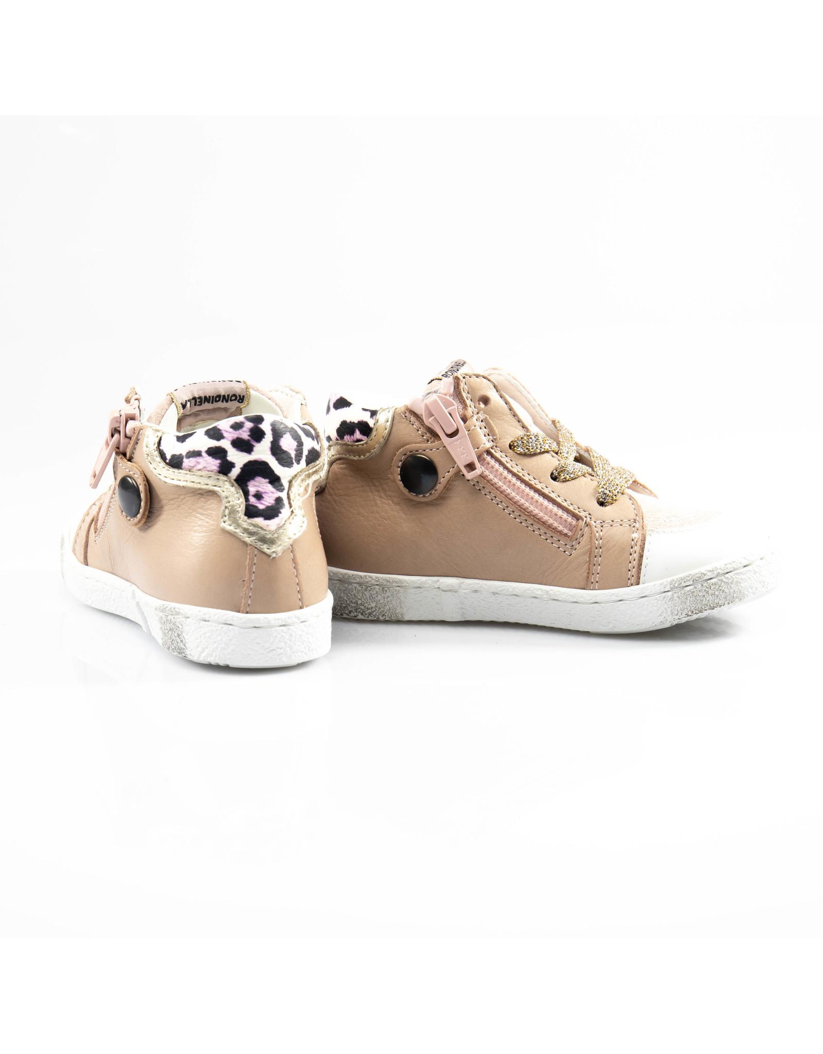 Rondinella hoge sneaker oud roze, paarse ster