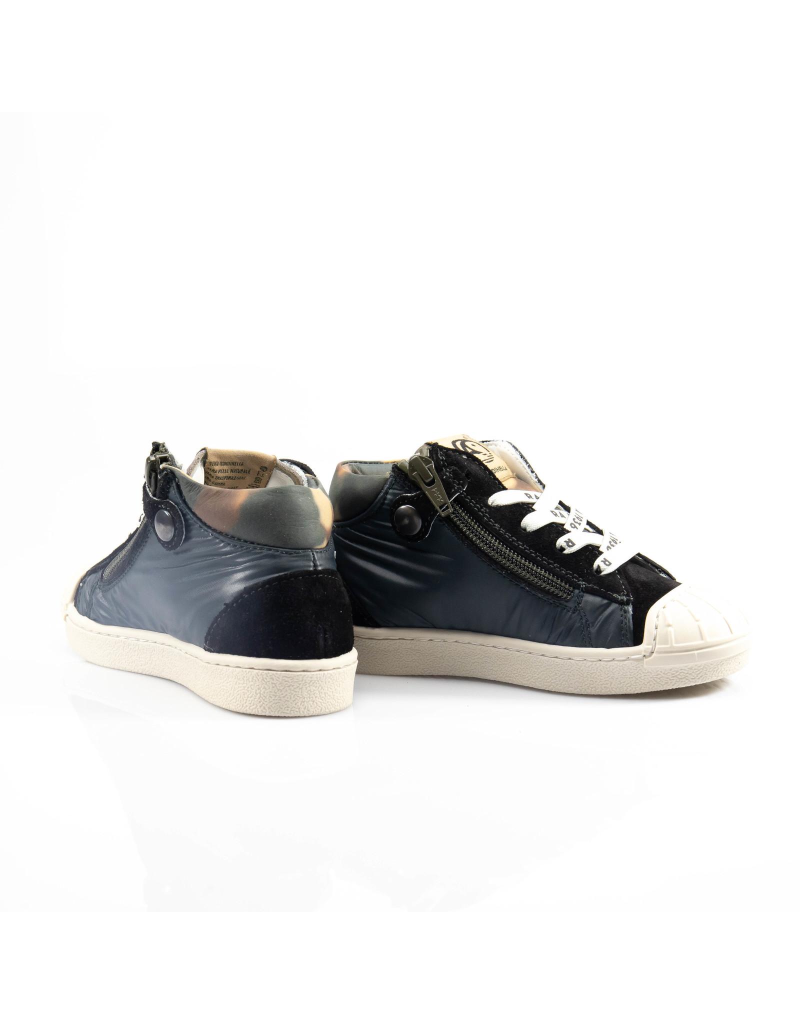 Rondinella hoge sneaker nubuck zwart, witte ster