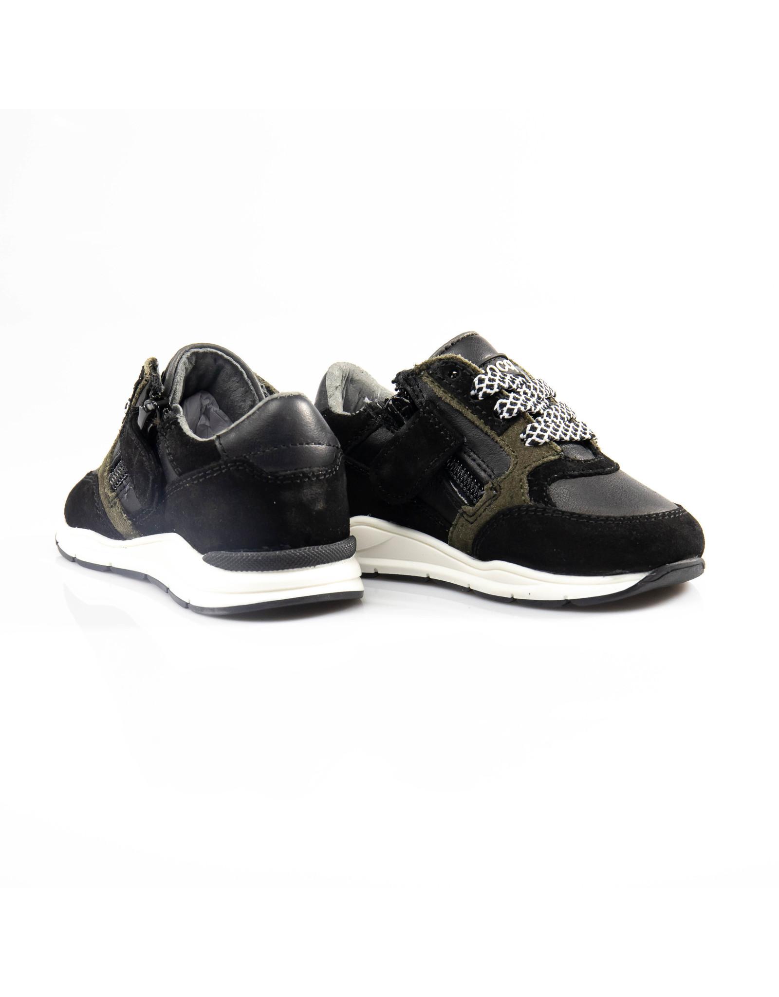 Pinocchio runner zwart/kaki