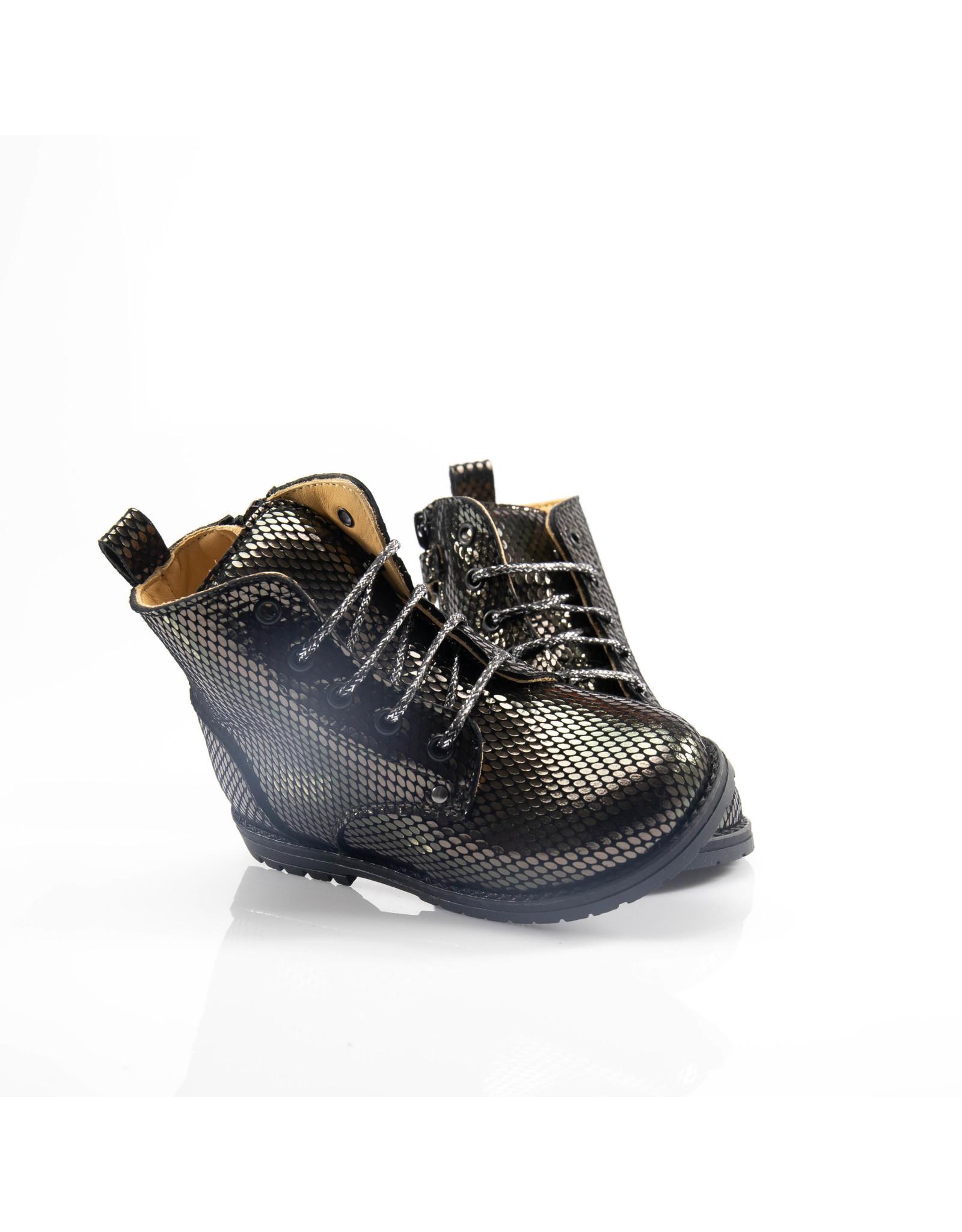 Rondinella veterlaarsje zwart /brons