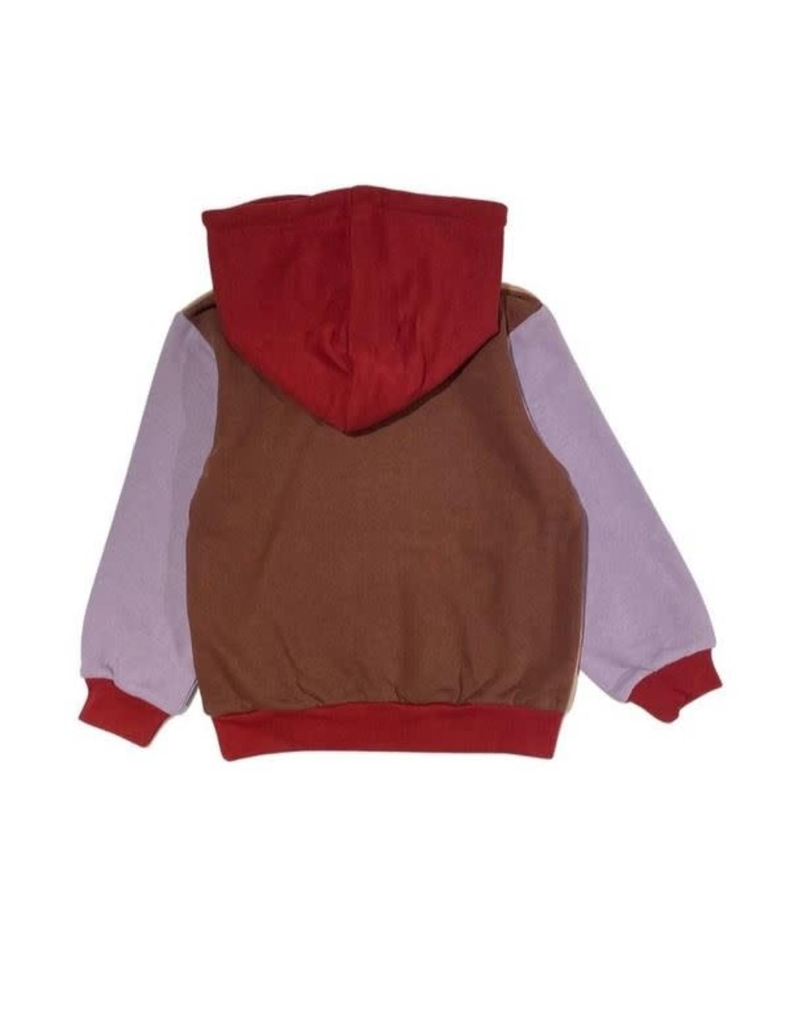 Cos I Said So color block hoodie praline