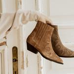 Tango Shoes korte enkellaarsjes, beige