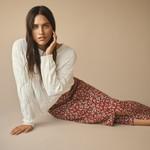 Free/quent Bloemen Midi Skirt