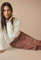 Free/quent Midi Skirt met rode bloemenprint