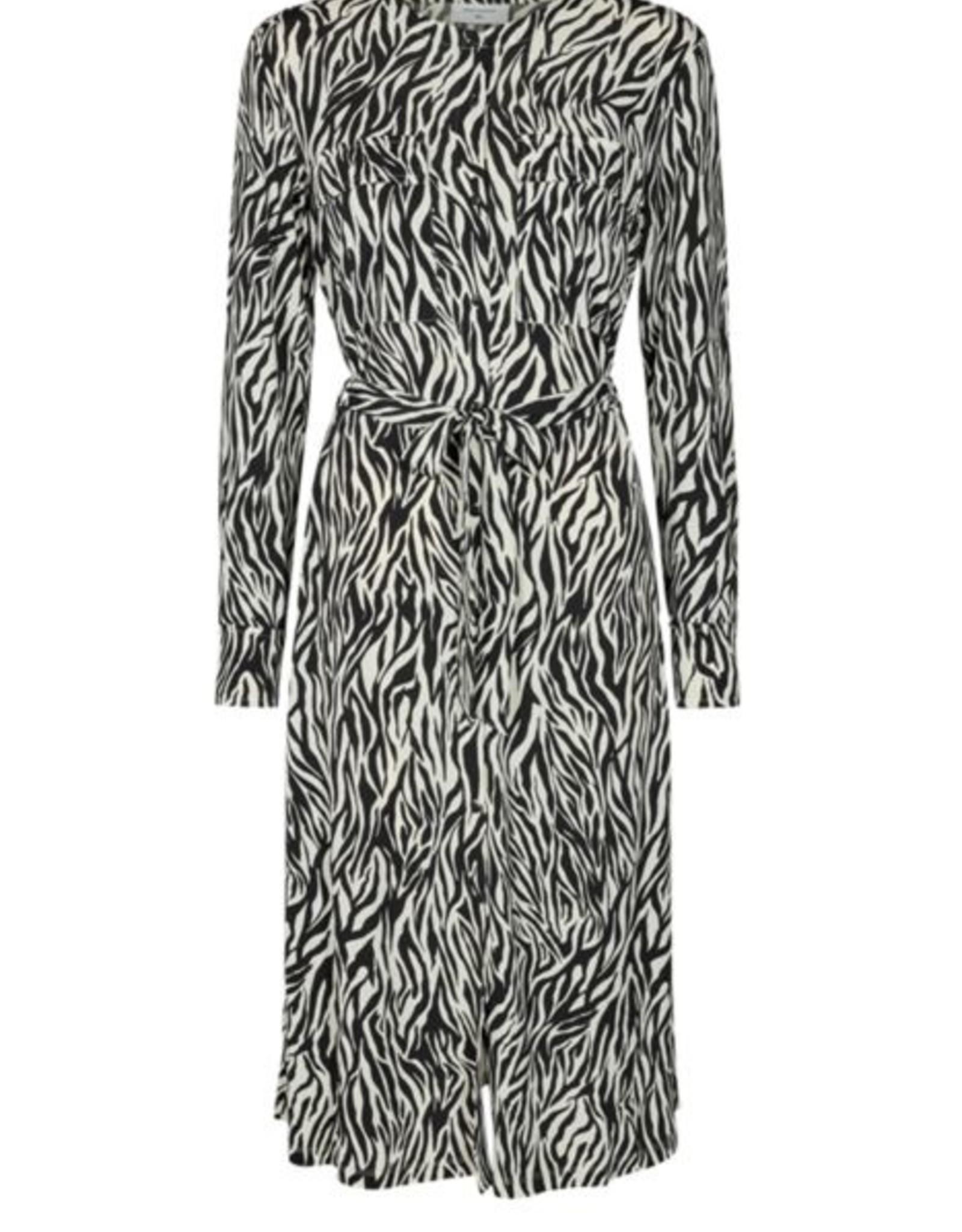 Free/quent Toffe midi dress - zebra print