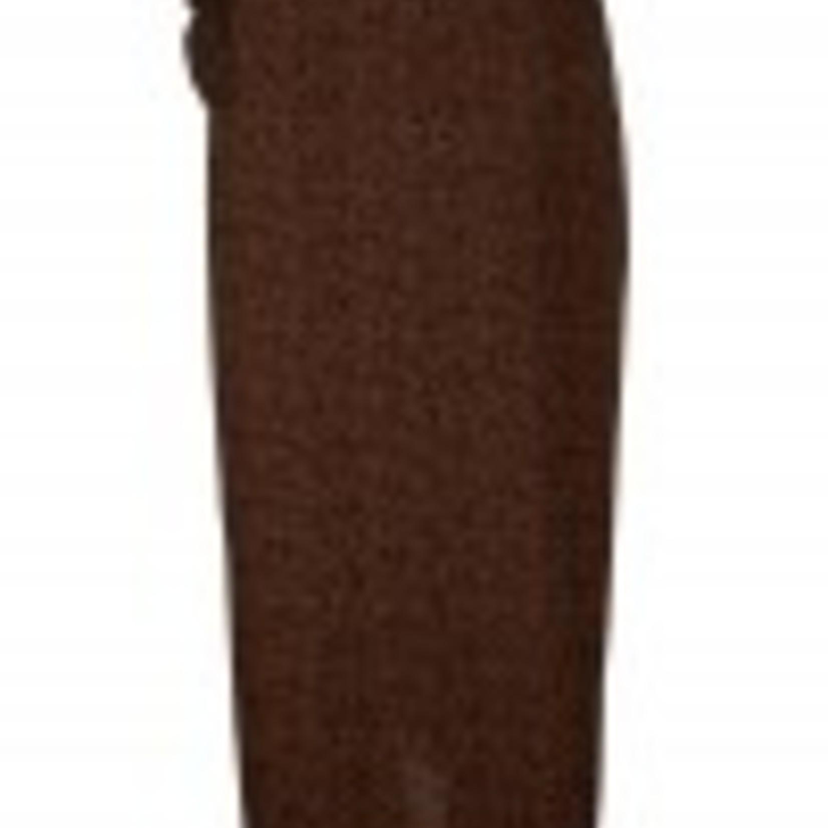 Toffe vrouwelijke rok, in roest met zwarte stipjes en heel leuk detail vooraan