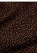 ydence Toffe vrouwelijke rok, in roest met zwarte stipjes en heel leuk detail vooraan